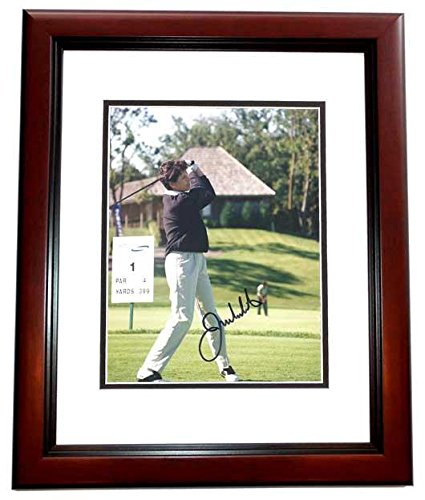Autographed Julie Inkster Photograph - 8x10 MAHOGANY CUSTOM FRAME - PSA/DNA Certified - Autographed Golf Photos - Julie Inkster Memorabilia