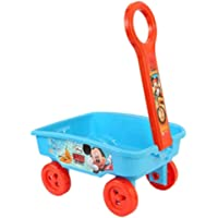 My 1st Pull Along Toy Wagon Disney Mickey Mouse Theme Toy Storage cart for Kids