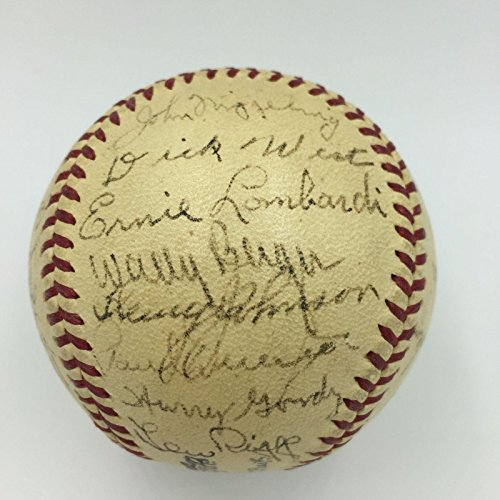 Magnificent 1939 Cincinnati Reds NL Champs Team Signed Baseball COA - PSA/DNA Certified - Autographed Baseballs 1939 Cincinnati Reds