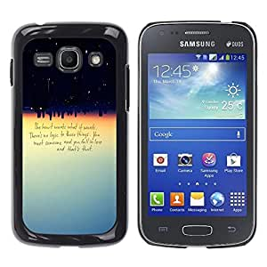 Paccase / SLIM PC / Aliminium Casa Carcasa Funda Case Cover para - Heart Wants What It Wants Quote Love Logic - Samsung Galaxy Ace 3 GT-S7270 GT-S7275 GT-S7272