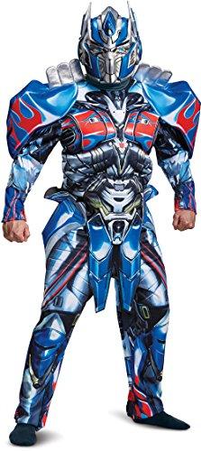 Optimus Prime 3d Costume (Disguise Men's Optimus Prime Movie Deluxe Adult Costume, Blue, X-Large)