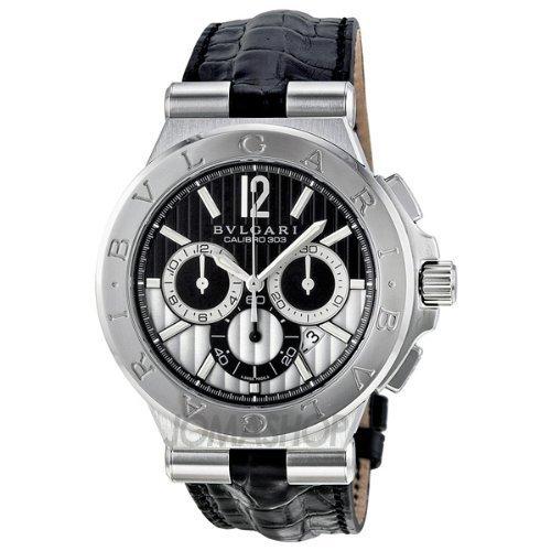 (Bvlgari Diagono Calibro 303 Chronograph Automatic Mens Watch DG42BSLDCH)
