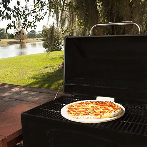The Ultimate 16'' Round Pizza & Bread Stone for Cooking & Baking on Oven & Grill. Exclusive ThermaShock Protection & Core Convection Technology for the Perfect Crispy Crust. Patented No-Spill Stopper by Love This Kitchen (Image #8)