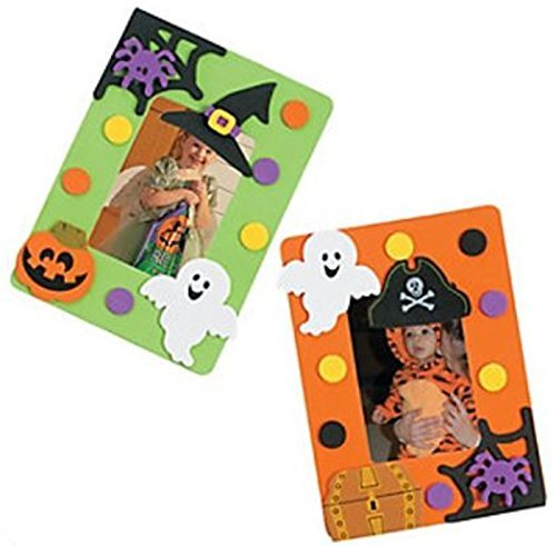 12 Design - A - Halloween Frame Magnet Craft Kits - Picture Frame Halloween Craft Kits ()