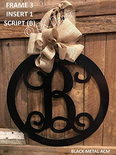Metal Initial Door Hanger - 24