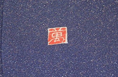 リサイクル 小紋 中古 正絹 こもん 十字絣文様 裄64cm グレー系 裄Mサイズ 身丈Lサイズ ll0333c