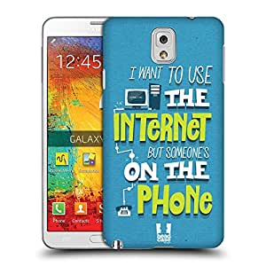 Head Case Designs Dial-Up Connection Nostalgic 90s Protective Snap-on Hard Back Case Cover for Samsung Galaxy Note 3 N9000 N9002 N9005