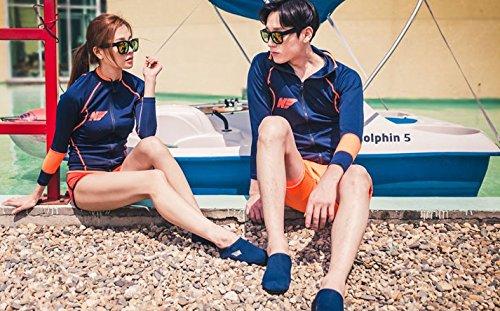NBERA 2econdskin Barfuß Wasser Haut Schuhe Aqua Socken für Beach Swim Surf Yoga Übung 2017 Navy Solid