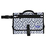 SCOUT Game Changer Diaper Changing Mat, Compartments for Diapers & Wipes, Stroller Attachment, Water Resistant, The Blue Hour