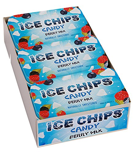 Berry Ice - ICE CHIPS Xylitol Candy Tins (Berry Mix, 6 Pack) - Includes BAND as shown