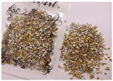 1000PCS Punk Nailart Decoration Golden Metallic Studs Round 2MM