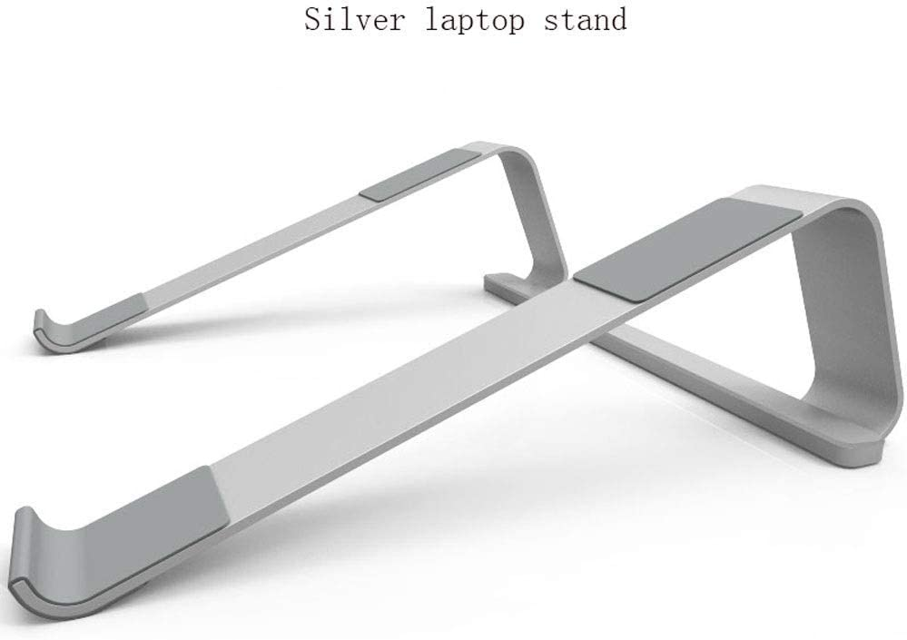 Lightweight and Convenient Laptop Stand Portable Metal Notebook Stand Multi-Function Notebook Stand Radiator Simple Aluminum Radiator Fast Cooling Color : White