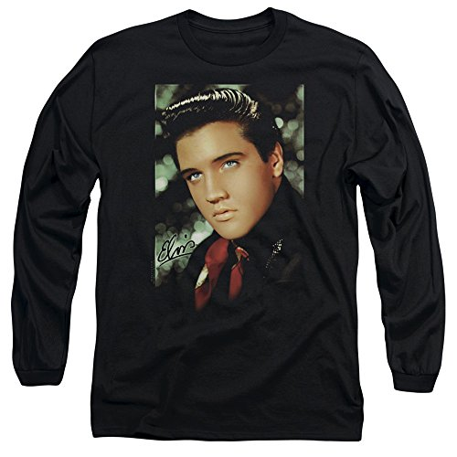 Elvis-Presley-Red-Scarf-Smile-Adult-Long-Sleeve-T-Shirt