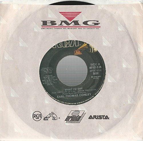What I'd Say -  Earl Thomas Conley, Vinyl