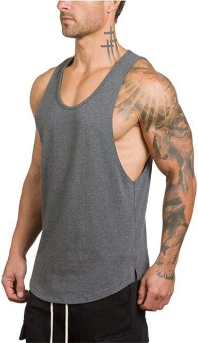 LOH Gym Algodón Singlets Culturismo Tank Top Hombres Fitness ...