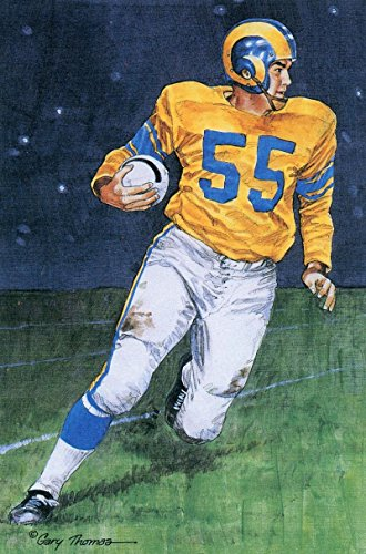 TOM FEARS UNSIGNED LOS ANGELES RAMS 1989 SERIES ONE GOAL LINE ART (Unsigned Los Angeles Rams)