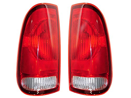 Aftermarket Replacement Left Right Pair Tail Lights for 1997 1998 1999 2000 2001 2002 2003 2004 2005 2006 2007 Ford F-150 F-250 F-350 F-450 F-550