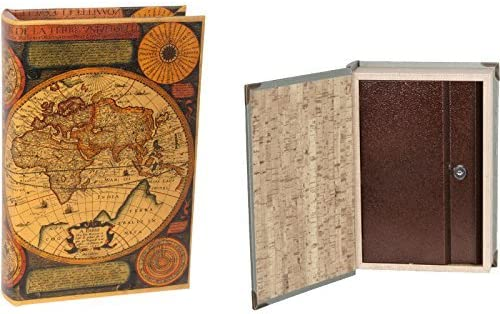 Mr Libro Caja Fuerte Mapa Mundi Antiguo: Amazon.es: Bebé