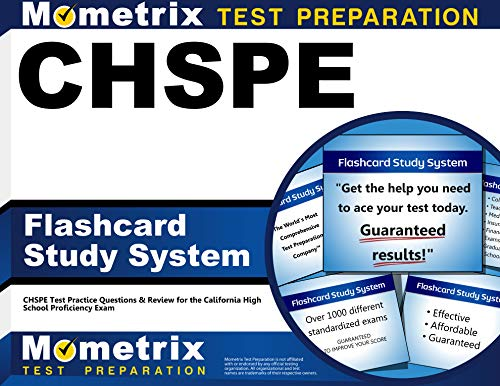 CHSPE Flashcard Study System: CHSPE Test Practice Questions & Review for the California High School Proficiency Exam (Cards) (All The Best Cards For Exams)
