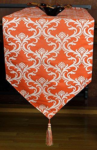 Damask-Style Elegant Table Runner (Orange, 72