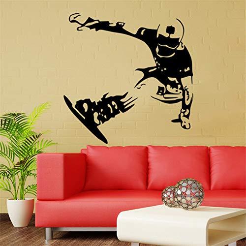 YSQARS Esquí de Snowboard Wallpaper Skate Board Pegatinas Niños Dormitorio Calcomanías de Vinilo Arte de La Pared Mural Poster Home Decor57X58Cm