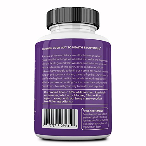 Ancestral Supplements Grass Fed Brain (with Liver) - Supports Brain, Mood, Memory Health (180 Capsules)