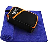 Rainleaf Travel Towel,Fast Drying Towel,Backpacking Towel,Swim Towel,Absorbent Towel,Workout Towel,Microfiber Towels for Body,Ultra Compact-Soft -Lightweight,Blue 34'x60'