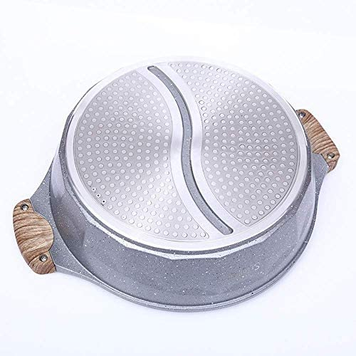 Hot Pot Yin et Yang Hot Pot 30Cm double face antiadhésifs Pot chinois Pot professionnel Art de la table des ménages kaikai
