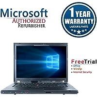 Lenovo ThinkPad T500 15.4 Laptop Computer(Intel C2D P8400 2.26G,4G RAM DDR3,160G HDD,DVD-ROM,Windows 10 Professional)(Certified Refurbished)