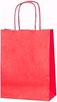 negro 20/bolsas de papel kraft con asas trenzadas e ideales para utilizar en fiestas o para hacer regalos XS