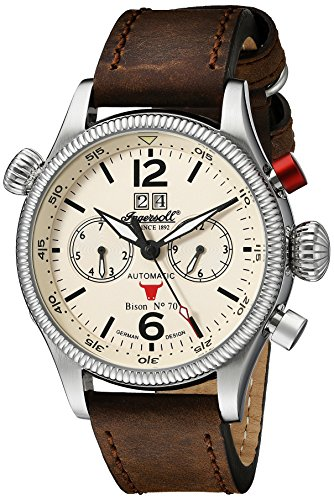 Ingersoll Men's IN3225CR Bison No. 70 Analog Display Automatic Self Wind Brown Watch
