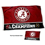 Cheap Alabama Crimson Tide College Football Playoff 2017 2018 National Champions Double Sided Flag