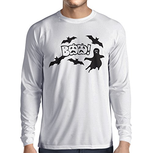 Homemade Halloween Cat Costumes Ideas (Long Sleeve t Shirt Men BAAA! - Funny Halloween Costume Ideas, Cool Party Outfits (Medium White Multi Color))
