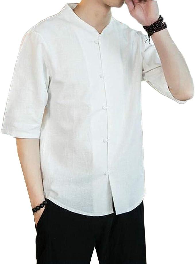 Hmarkt Mens Fleece Linen Long Sleeve Denim Winter Pocket Button Down Shirts