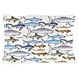 CafePress - School of Sharks 1 Pillow Case - Standard Size Pillow Case, 20''x30'' Pillow Cover, Unique Pillow Slip