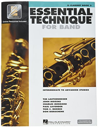 - Hal Leonard Essential Technique 2000 for B Flat Clarinet (Book 3 with CD)