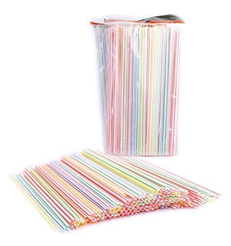 Pack of 450 Disposable Plastic Straight ...