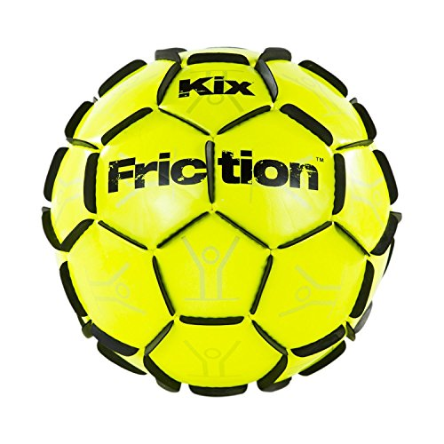 The KixFriction Soccer Ball - #1 Selling Soccer Training Ball (Yellow, Size 4) Awesome Street Soccer Ball - Marvel of Design & - Guide Size Select