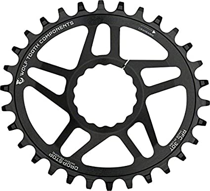 Black Wolf Tooth Components Direct Mount Drop Stop Oval 30T Bike Chainring