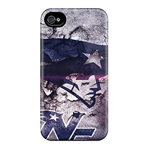 Elaney Scratch-free Phone Case For Iphone 4/4s- Retail Packaging - New England Patriots