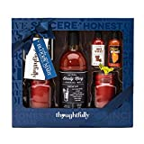 Bloody Mary Cocktail Gift Set with Mason Jar Glasses | Includes Bloody Mary Mix, 2 Mason Jar Glasses with Handles, 2 Gourmet Hot Sauces, and Celery Salt