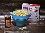 Silicone Microwave Popcorn Popper BLUE Popcorn Maker CUCINA LAURA Collapsible Popcorn Bowl Lid Popcorn Air Popcorn Healthy Snacks gourmet popcorn machine popcorn kernels free eBooks