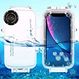 RedGoodThings iPhone XR Case, HAWEEL 40m/130ft Waterproof Diving Housing Photo Video Taking Underwater Cover Case for iPhone XR (Color : White)