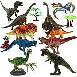 "Benyi Realistic Dinosaur Figures Toys -8"" Large Plastic Dinosaur Set Kids,Solid Simulation No Stitching Dinosaur Playset, Jurassic World Dinosaur Toys"