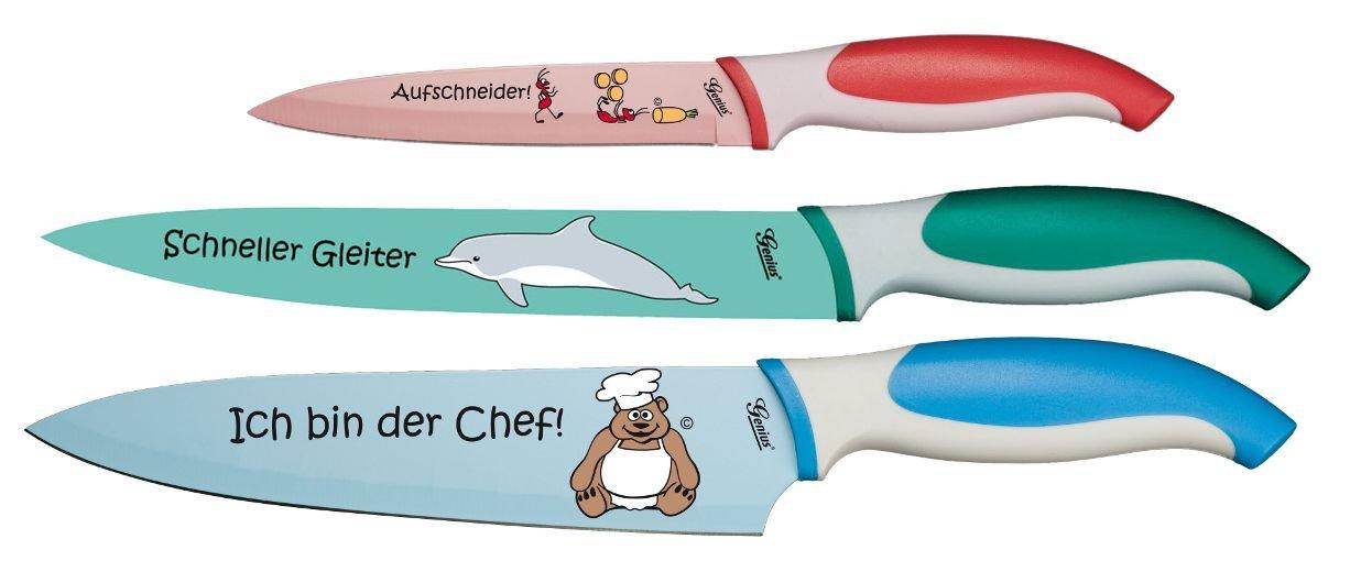 Compra Genius 21147 - Juego de cuchillos profesionales (3 ...