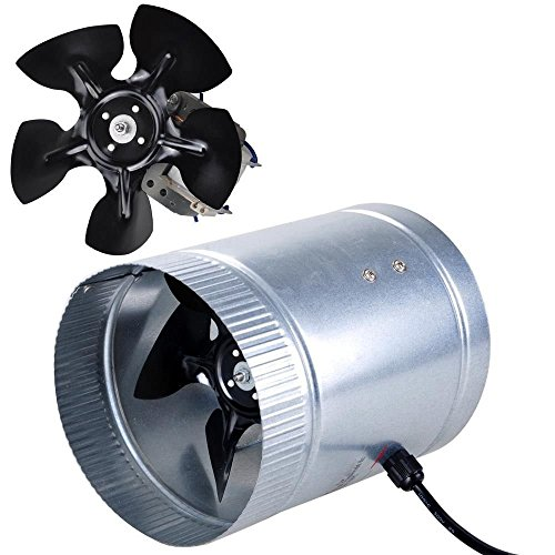 "6"" Inline Duct Fan 260 CFM Booster Exhaust Blower Aluminum Blade Air Cooling Ventilation Fans good"