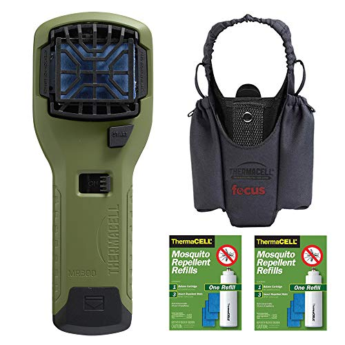 - ThermaCELL Camper's Kit : Mosquito Repellent Appliance (Olive) with Graphite Holster and Two R1 Refill Packs