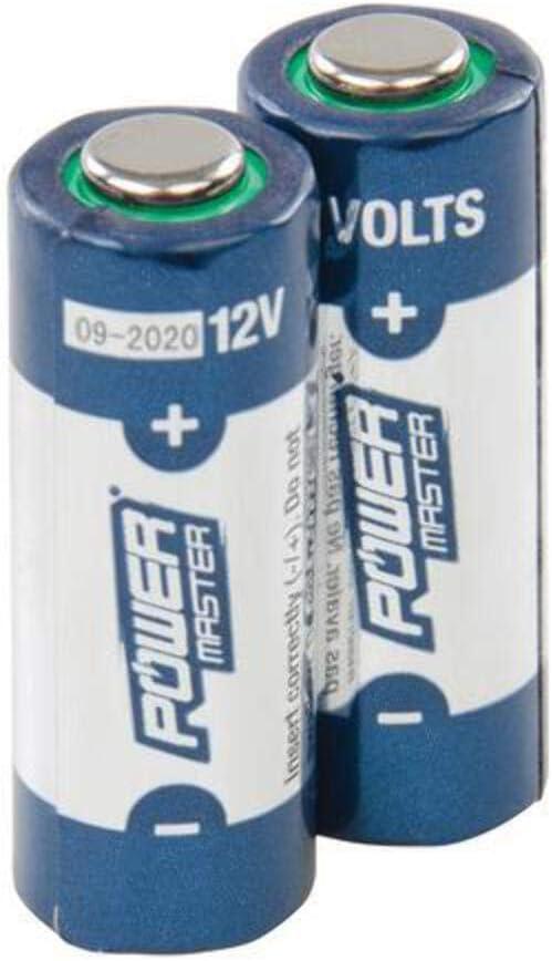 Powermaster 306107 Pilas Súper Alcalinas, 12 V, Set de 2 Piezas