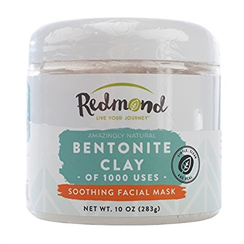 (Redmond - Bentonite Clay of 1000 Uses, Soothing Facial Mud Mask 10 Ounce (6 Pack))