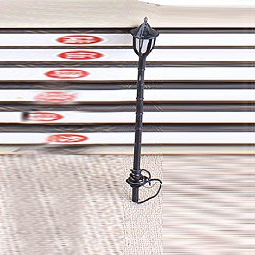 Meiyiu Adorno de iluminación en Miniatura paisajística para la Calle, luz de Carretera, Bonsai, para casa de muñecas,...